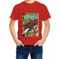 MARVEL COMICS - T-SHIRT BAMBINO SPIDER-MAN COVER 7-8