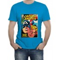 MARVEL COMICS - T-SHIRT UOMO CAPTAIN AMERICA COVER M