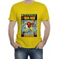 MARVEL COMICS - T-SHIRT UOMO IRON MAN COVER L
