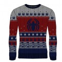 MARVEL COMICS SPIDER-MAN - KNITTED JUMPER - SPIDER LOGO S