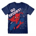 MARVEL COMICS SPIDER-MAN - T-SHIRT - GO SPIDEY 7-8 YEARS