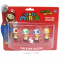 MFGNIN006 - SUPER MARIO - TOAD - PACK 4 MINI FIGURE