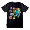 MINECRAFT - T-SHIRT - STEVE AND FRIENDS 7-8 YEARS