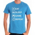 NERD - TS029 - T-SHIRT EAT SLEEP GAME REPEAT S