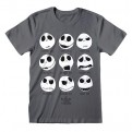 NIGHTMARE BEFORE CHRISTMAS - T-SHIRT - MANY FACES S