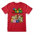 NINTENDO: SUPER MARIO - T-SHIRT - MAIN CHARACTER GROUP M