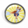 PBADCC04 - STREET FIGHTER - ENAMEL PIN BADGE (HEADER) - CAPCOM (CHUN-LI)