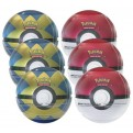 POKEMON - TIN - POKEBALL - BOX 6 PEZZI