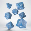 SELV1R - SET 7 DADI ELVISH GLACIER WHITE