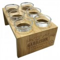 SHTWPB01 - PEAKY BLINDERS - SHOT GLASSES SET WITH WOODEN HOLDER - GARRISON TAVERN