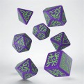 SPAT76 - SET 7 DADI PATHFINDER GOBLIN PURPLE GREEN