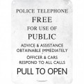 SSA5DW04 - DOCTOR WHO - TIN SIGN SMALL - DOCTOR WHO (PHONE BOX SIGN)