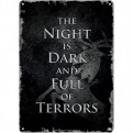 SSA5GT01 - GAME OF THRONES - TIN SIGN SMALL - GAME OF THRONES (NIGHT DARK)