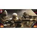 STAR WARS - GLASS POSTER (60X30CM) - STORMTROOPERS BATTLE