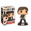 STAR WARS - POP FUNKO VINYL FIGURE 169 CELEBRATION 2017 - HAN SOLO ACTION POSE 8CM