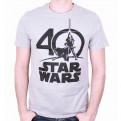 STAR WARS - TS062 - T-SHIRT STAR WARS LOGO 40 YEARS L