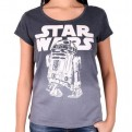 STAR WARS - TS708 - T-SHIRT DONNA R2D2 LOGO M