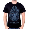 STAR WARS EPISODE VII - TS117 - T-SHIRT MILLENNIUM FALCON L