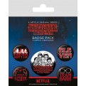 STRANGER THINGS - PIN BADGES - 5-PACK CHARACTERS