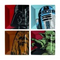SW00877 - STAR WARS - SET 4 PIATTI: ICONIC CHARACTER GRAPHICS