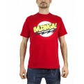 TBBT10 - T-SHIRT BIG BANG THEORY BAZINGA RED L
