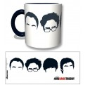 TBBT57 - TAZZA THE BIG BANG THEORY FACES BLACK