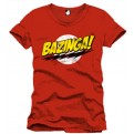 THE BIG BANG THEORY - T-SHIRT UOMO - BAZINGA RED - XL