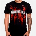 THE WALKING DEAD - T-SHIRT - BLOODY HANDS LOGO - L