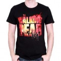 THE WALKING DEAD - TS008 - T-SHIRT FIRE LOGO M