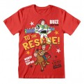 TOY STORY - T-SHIRT - BUZZ TO THE RESCUE 5-6 YEARS