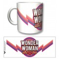 WONDER01 - TAZZA WONDER WOMAN VINTAGE LOGO