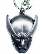 14098B - DISCONTINUED MARVEL WOLVERINE HEAD PEWTER KEY RING