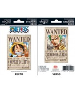 ABYDCO146 - ONE PIECE - MINI STICKERS WANTED LUFFY ZORO