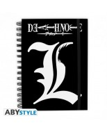 ABYNOT001 - DEATH NOTE - NOTEBOOK L LOGO