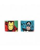 ECP2MV01 - CAPTAIN AMERICA - EGG CUPS SET OF 2 - MARVEL (CAPTAIN AMERICA)