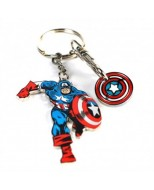 KEYMV02 - CAPTAIN AMERICA - KEYRING TROLLEY COIN - MARVEL (CAPTAIN AMERICA)