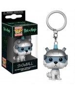 RICK AND MORTY - POP FUNKO VINYL KEYCHAIN SNOWBALL 4CM