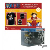 ABYPCK021L - ONE PIECE - GIFT BOX - T-SHIRT SKULL WHITE MAP BLACK L + TAZZA