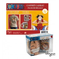 ABYPCK036M - ONE PIECE - GIFT BOX - T-SHIRT LUFFY WANTED M + TAZZA