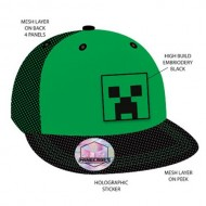 MINECRAFT - SNAPBACK CAP - HIGH BUILD EMBROIDERY
