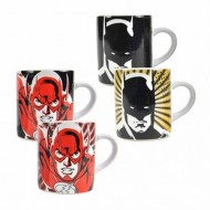 MMUGJL01 - JUSTICE LEAGUE - MUG MINI S/2 HEAT CHANGING - JUSTICE LEAGUE (BATMAN & FLASH)