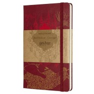 MOLESKINE LIMITED EDITION - NOTEBOOK HARRY POTTER LARGE RULED MAP RED
