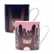 MUGBJA15 - JOLLY AWESOME - MUG HEAT CHANGING (400ML) - JOLLY AWESOME (RABBITS)