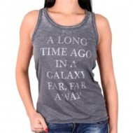 STAR WARS - TK705 - TANK TOP DONNA A LONG TIME AGO IN A GALAXY XL