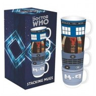 STMGDW01 - DOCTOR WHO - MUGS STACKING SET OF 4 - DOCTOR WHO