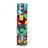 STMGMV01 - MARVEL - MUGS STACKING SET OF 4 - MARVEL (CHARACTERS)