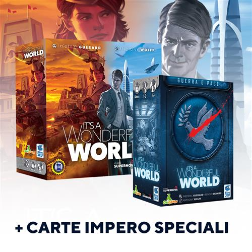IT\'S A WONDERFUL WORLD + IT\'S A WONDERFUL WORLD: GUERRA O PACE - ESPANSIONE + SET CARTE IMPERO SPECIALE