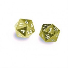 85089 - HEAVY METAL D20 DICE SET - GOLD