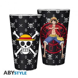 ABYVER167 - ONE PIECE - BICCHIERE 400ML LUFFY