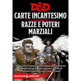 D&D 5A EDIZIONE ITA - CARTE INCANTESIMO RAZZE E POTERI MARZIALI